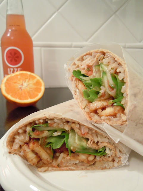 veganfoody:  Sweet 'n' Spicy Coconut Wrap