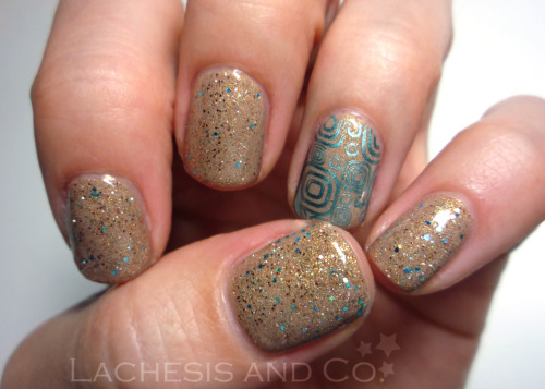 China Glaze Fast Track Windestine Jeweled Sand Sally Hansen Turquoise Chrome Cheeky XL plate B