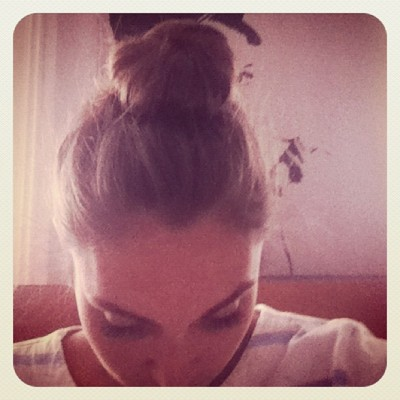 and the top knot is still in tact.  (Taken with Instagram at Greenpoint)