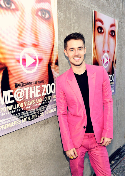 Chris Crocker at the premiere/screening of his HBO documentary 'Me At The Zoo' at MoMA/Ps1 in NYC!