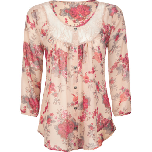 FULL TILT Lace Trim Top Tillys.com - $15.97