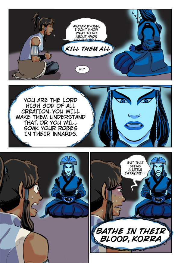 atla-annotated-replies:  Korra and Kyoshi by ~tracywilliams Do eeeeeeeeeeeeeeeeeeeeeeet!