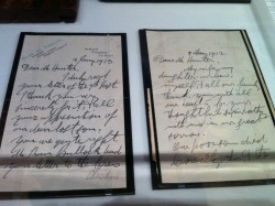 Letters to a Mr. Hunter from Thomas Andrews Sr., in regards to his son Thomas Andrews Jr., who perished on the Titanic 15 April 1912.