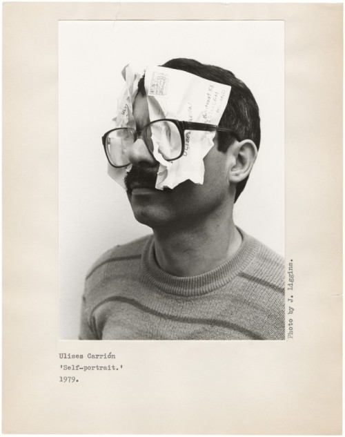 thecounterpunchingradio:  Self-portrait, 1979 Ulises Carrión (photo by J. Liggins)