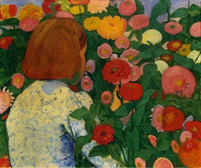 forfranzkafka:  Cuno Amiet Girl with Flowers 1896