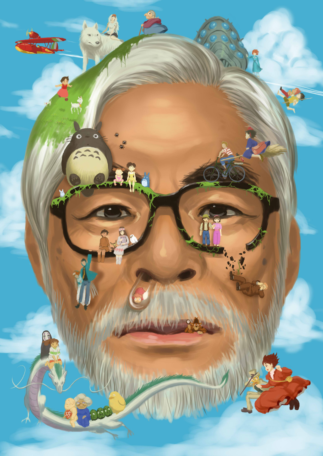 pirratta:  Hayao Miyazaki's masterpieces! :D  Erica I love You. I totally agree with you. This definitely describes ALL his movies. I think it's awesome that he always place the main character as a girl.