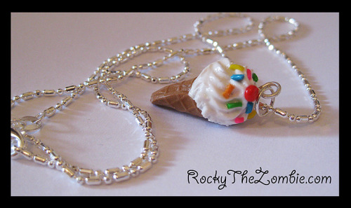 Vanilla Ice Cream Sprinkle necklace, from RockyTheZombie.com Available here on ebay this week: Click Here