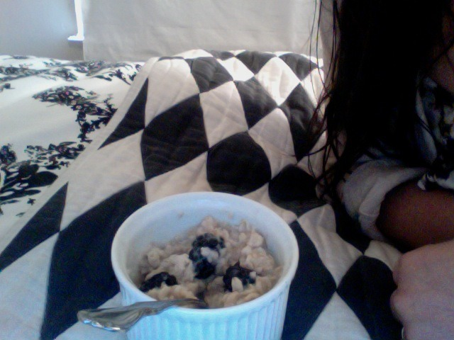 Oatmeal with blackberries!