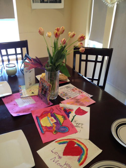 What a fabulous Mother's Day surprise this morning! I love the flowers from Hubby and all the homemade cards and pictures from the babies. I love it all!!