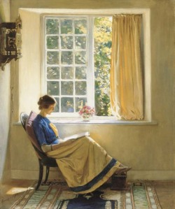 teachingliteracy:  poboh: Morning Sun, Harold Knight. English (1874 - 1961)
