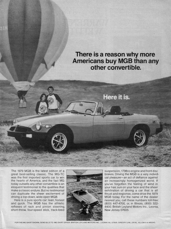 MG B 50 Anniversary Advertising Week