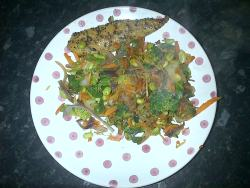 Mackerel & Bean Stir-fry!x