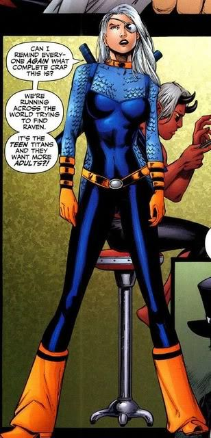 Starting somewhere easy with ROSE WILSON WHY ARE YOU WEARING BELLBOTTOMS WHAT IS WRONG WITH YOU  ROSE YOU ARE A BADASS BUT YOU ARE WEARING FREAKING SCALY CHAINMAIL AND ORANGE BELLBOTTOM ATTACHMENTS Ten points from the Wilson house for making my brain cry.