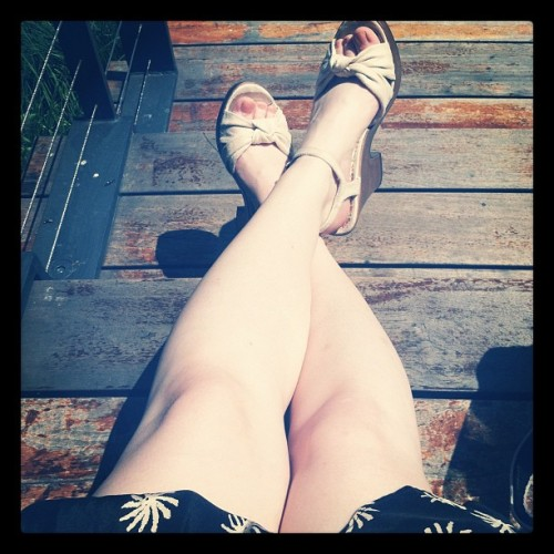 finally getting some sun (Taken with Instagram at High Line Park)