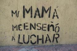 suzy-x:  Mi mamá me enseñó a luchar. My mother taught me how to fight.