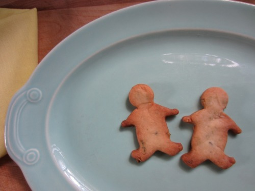 These shortbread cookie dudes are getting married, and there's nothing you can do to stop them. (lemon verbena shortbread cookie dudes)