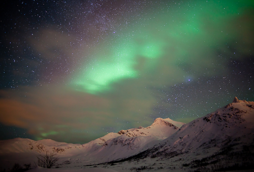 Aurora Borealis, shining down on Dallas…  ecocides:  The Aurora, Norway | image by Keith Burtonwood