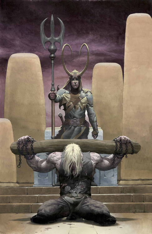 comicartappreciation:  Loki #1 // Esad Ribic