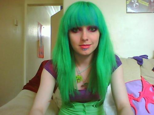 jasminejgreen:  So, three years ago my hair was a rat tailed, over processed ruin. One utterly miserable day and I grabbed a pair of scissors and took it out on my hair, leaving me with a mop that was was up by my ears and an absolute mess. Since then, I've worn extensions and babied the shit out it to try. So for the first time in a very long time, this is ALL my own hair! Not a fake piece of hair in sight. So for goodness sakes, never let me go near my hair with a pair of scissors again!!