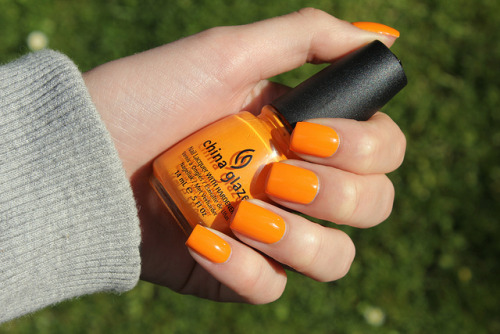 China Glaze Papaya Punch on Flickr.I like this! I know this is not the most exciting post, but I will do some nail art soon! www.coewlesspolish.wordpress.com