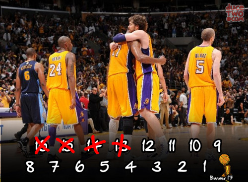 The Laker BIG'S played BIG in game 7.12 more wins to go for another championship! Unique Kobe & LA shirts at: www.duceTWO.com