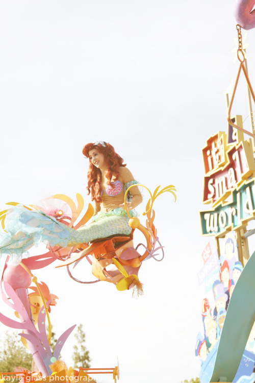 ariel in mickey's soundsational parade, it's a small world, fantasyland | disneyland park, caapril 25, 2012