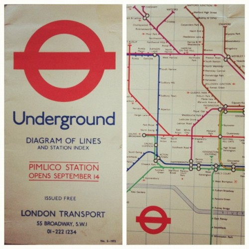 Old Underground map. (Taken with instagram)