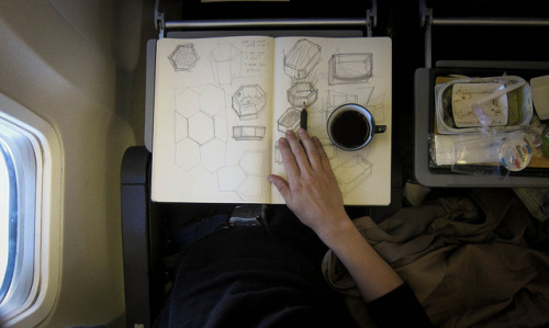 Moleskine in aereo by votredame on Flickr.