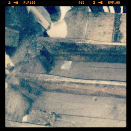 Steep steep stairs to loft (Taken with Instagram at Rabbit Lake)