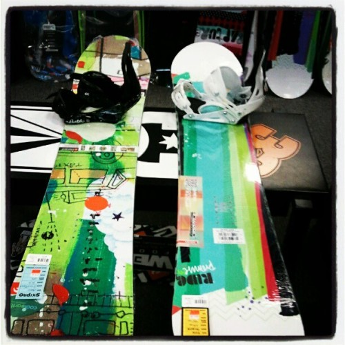 Getting new boards.  Thanks Mom! <3 (Taken with Instagram at Ski Pro)