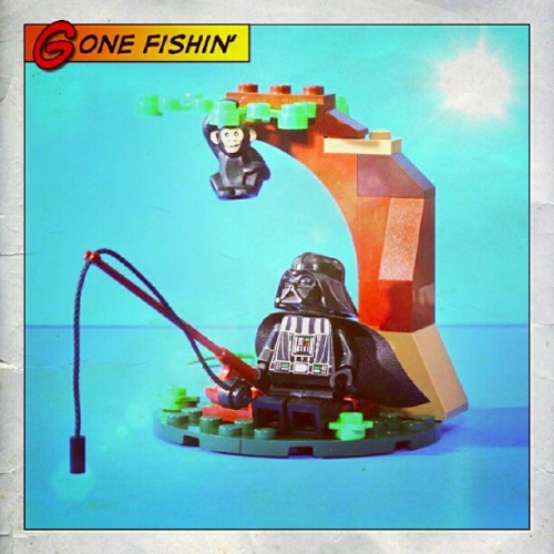 #Darth tries yet another new hobby. #starwars #lego #toys #toyphotography #fishing (Taken with Instagram at Marco Island)