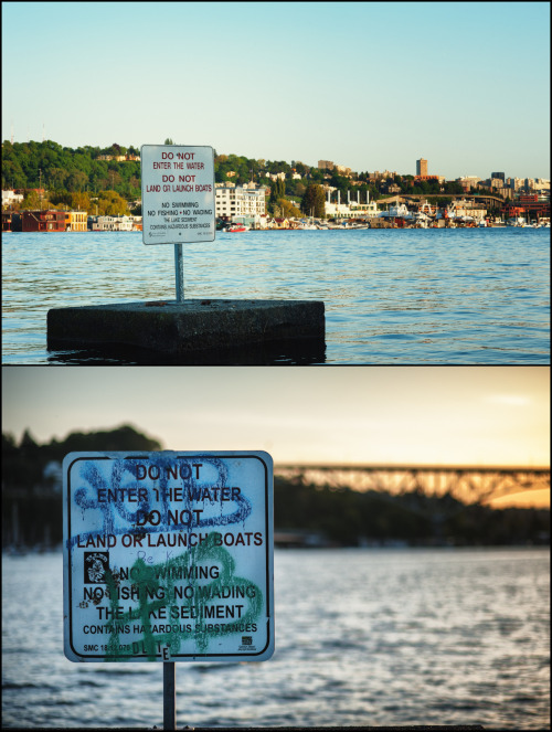 Don't Swim near gas works!