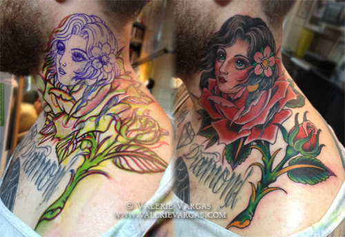 Valerie Vargas, Frith Street Tattoo, London, UK http://valerievargas.com