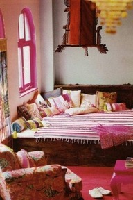 Pink room - tribal, ethnic, boho