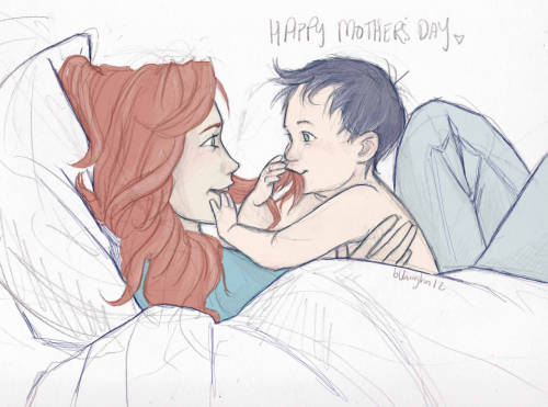burdge:  Lily and little Harry for Mother's day. <3