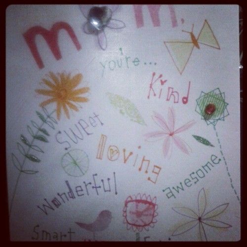 Being a mom is the best! Happy Mother's day!!  (Taken with instagram)