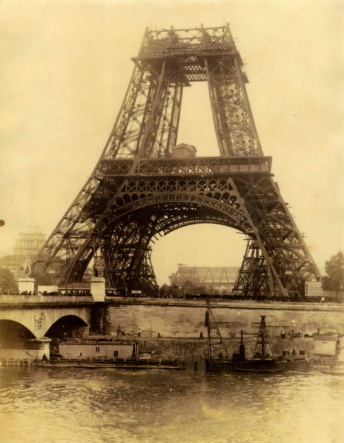 itsjohnsen:  Eiffel Tower under construction, Paris, 1888. Anonymous | Robert Flynn Johnson