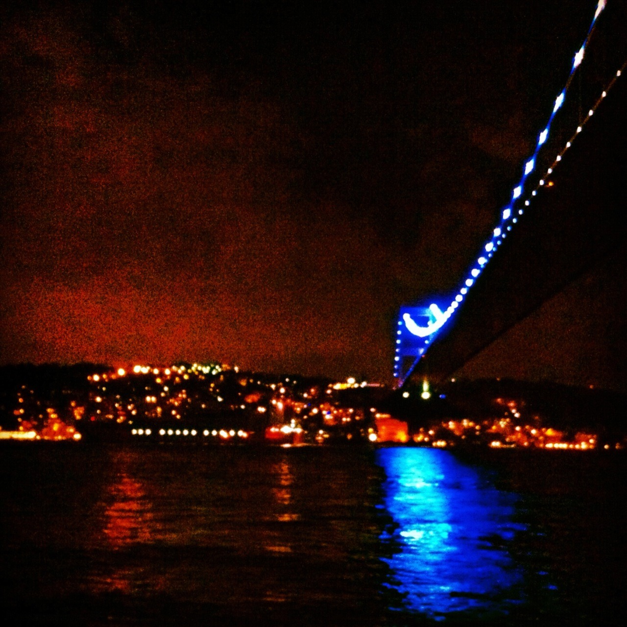 Anadolu Kavagi at night.