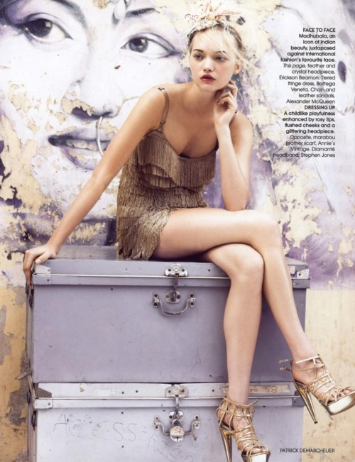 Bollywood Dreams with Gemma Ward photographed by Patrick Demarchelier and styled by Lucinda Chambers for Vogue India, October 2007.