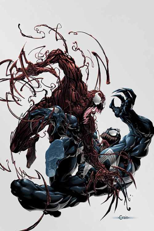 comicartappreciation:  Venom vs. Carnage // Clayton Crain