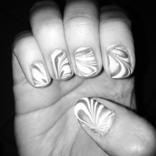 Can you guess what two colors I used for this water marble?