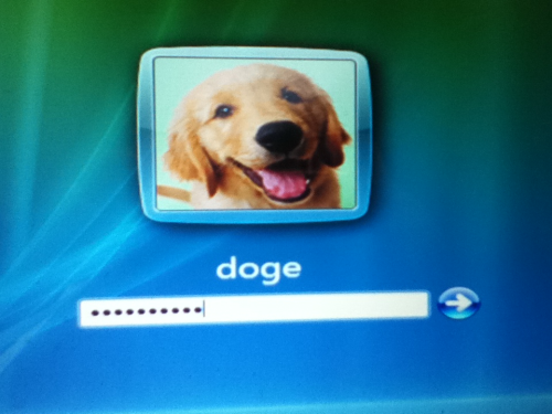 doge please improve your password it is not strong enough u will be hacked