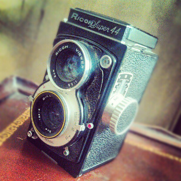 Another cool-looking camera  (I think?) I found while cleaning out my grandmother's house. #RicohSuper44 #retro #antique #vintage #Instadroid #Andrography #tiltshift #Amarofilter #enhanced (Taken with instagram)