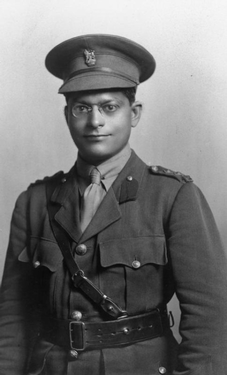 Lieutenant Joshi, of the Indian Army Staff, who gave his life in WWI. I'm posting this because I hadn't known that Indians served Britain during WWI, and I bet many of you didn't either.