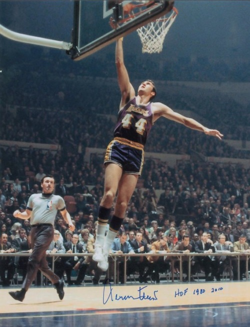 "Today Homage wishes a very happy 74th birthday to Laker legend Jerry West.  ""The Logo"" was a 14-time NBA All-Star and was named All-Star MVP in 1972, the same year he won the only title of his career. West was inducted into the Naismith Basketball Hall of Fame in 1980 and voted one of the 50 Greatest Players in NBA History in 1996."