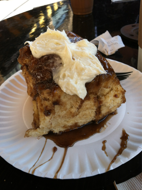 This was the biggest and best cinnamon roll I've ever consumed.  Courtesy of Isle's Bun & Coffee Co. in Minneapolis.