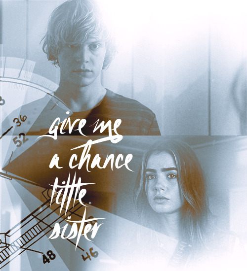"Clarissa & Johnathan Morgenstern // Clary & Sebastian""Give me a chance, little sister."""