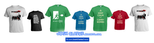New colours available!Which is your favourite? Free delivery on all tees! :)  http://joshclarke.bigcartel.com