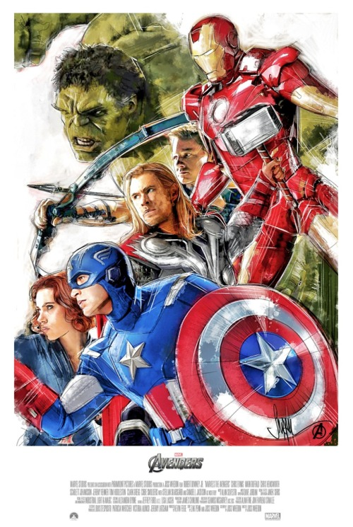 fuckyeahmovieposters:  The Avengers by Paul Shipper