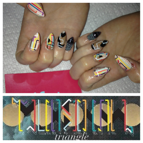 Nails inspired by Muhsinah, on the talented LiLi K